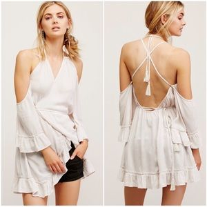 Free People Ray of Sun strappy wrap dress